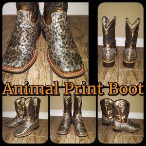 Animal Print Boot